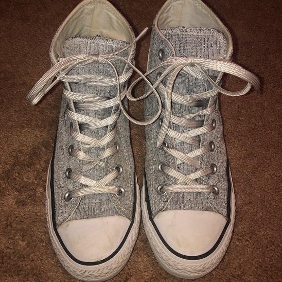sparkly grey converse